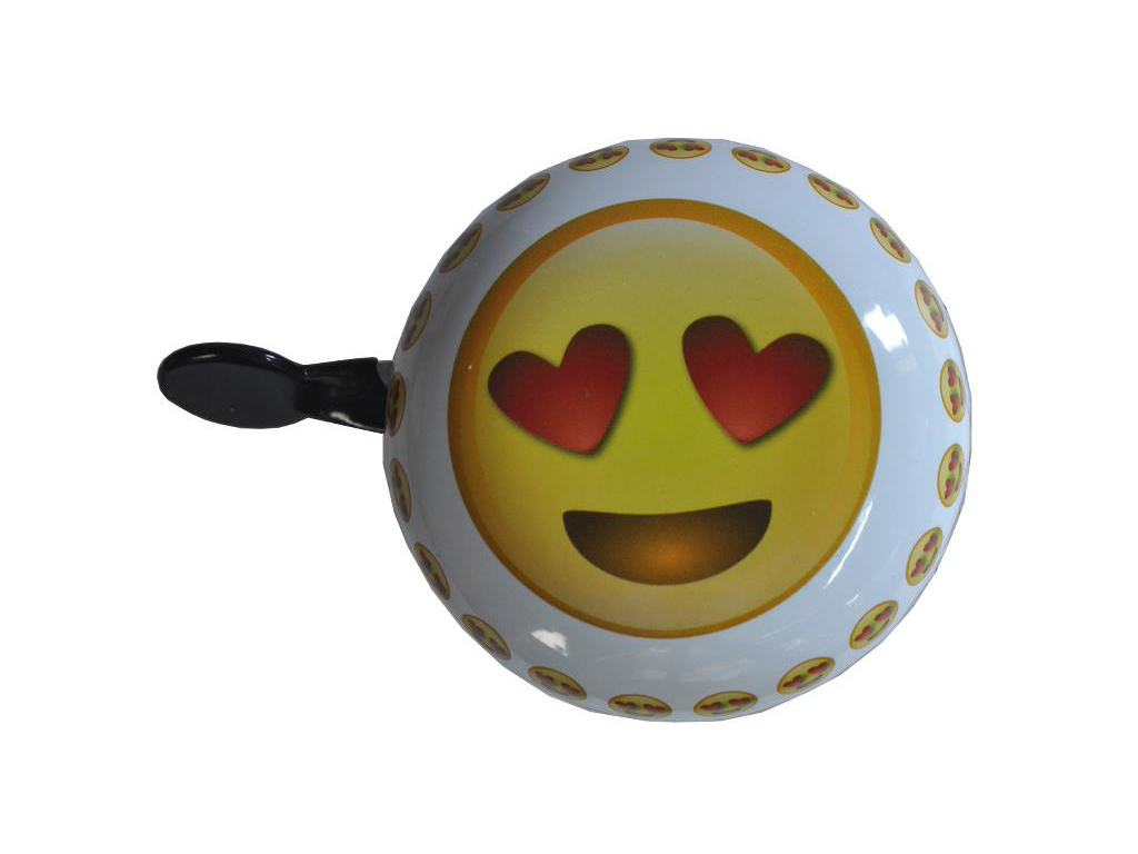Image of   Emoticon heart - Ringeklokke - Forelsket smiley