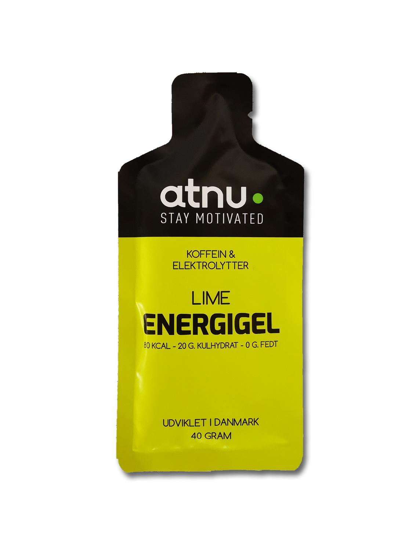 Atnu Energigel - Lime med coffein - 40 gram | Energy gels