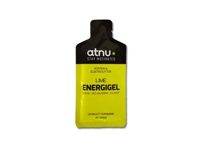 Atnu Energigel - Lime med coffein - 40 gram