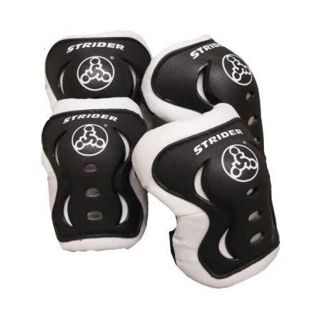 Strider beskyttelsessæt - Albue- & knæbeskytter - Sort/hvid | Amour