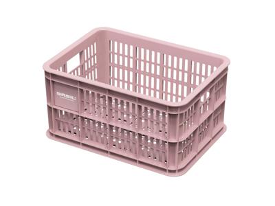Basil Crate S - Plast kurv - Til opbevaring eller bagagebærer - Faded blossom