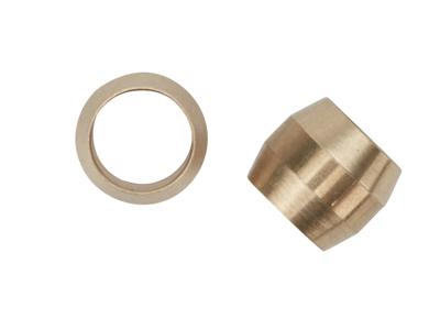 Atredo - Hydraulisk kompressions-ring till kabel - Mässing - 2 st