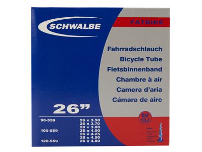 Schwalbe slange 26x3,50/4,80 med Racer ventil SV13J