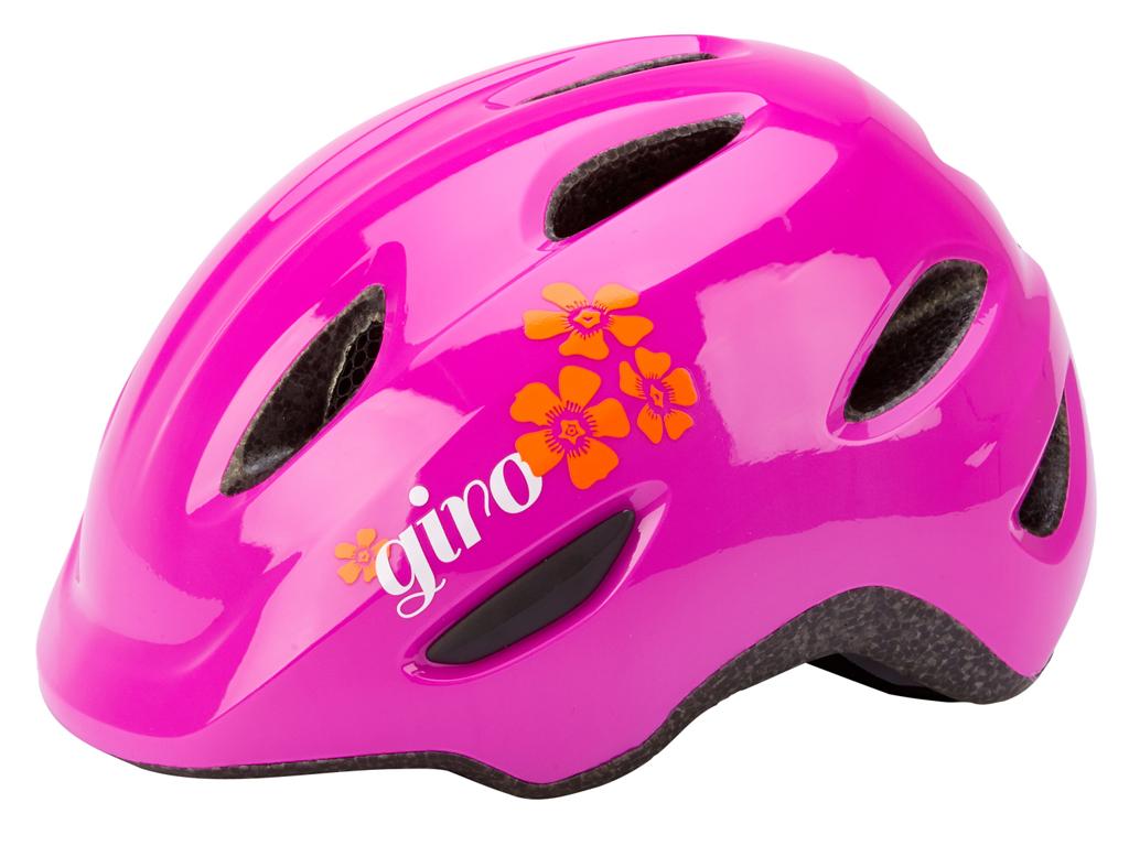 Giro Scamp - Cykelhjelm - Str. 45-49 cm - Pink blomst thumbnail