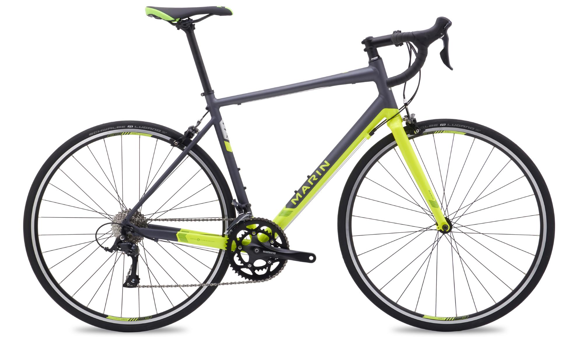Marin Argenta Comp - Enduro racercykel - Matgrå/HiVis grøn   Road bikes