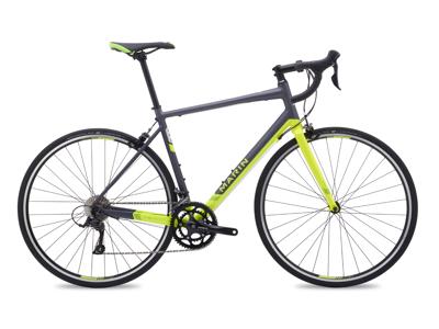 Marin ARGENTA COMP - Enduro racercykel - Matgrå/HiVis grøn - Str. 58