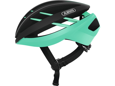 Abus Aventor - Cykelhjelm - Sort / celeste grøn
