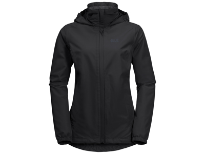 Jack Wolfskin Stormy Point Skaljakke - Dame - Sort