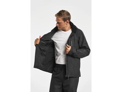 Didriksons Stratus Mens Jacket - Regnjakke herre - Sort