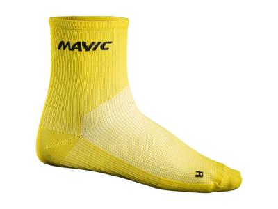 Mavic Cosmic Mid Sock - Cykelstrømper - Gul