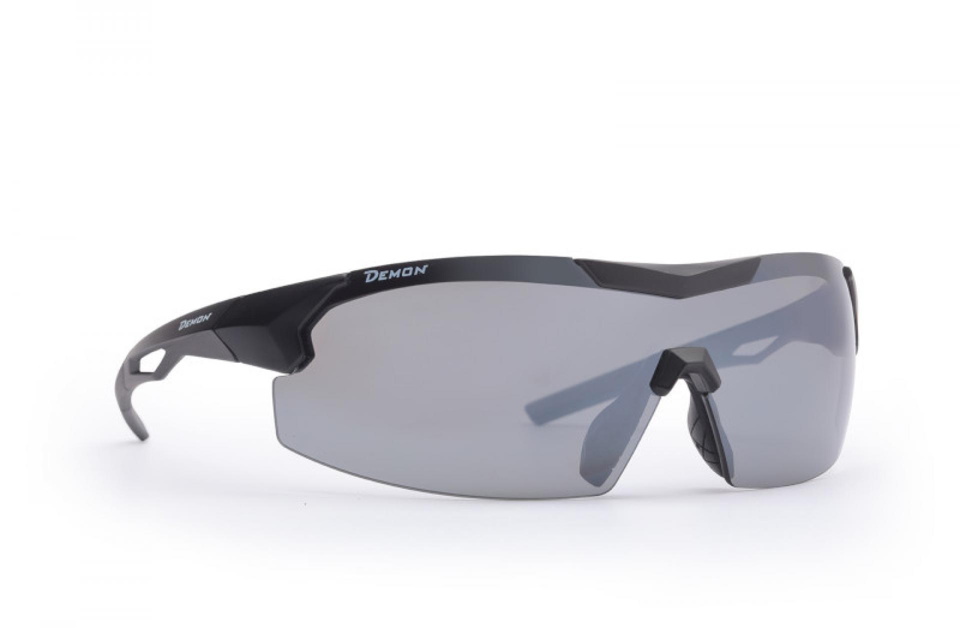 Demon Visual DCHANGE - Løbe- og cykelbrille med 3 sæt linser - Matsort   Glasses