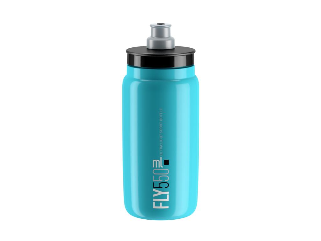 Image of   Elite Fly - Drikkedunk 550ml - 100% Biologisk nedbrydelig - Lys blå med sort logo