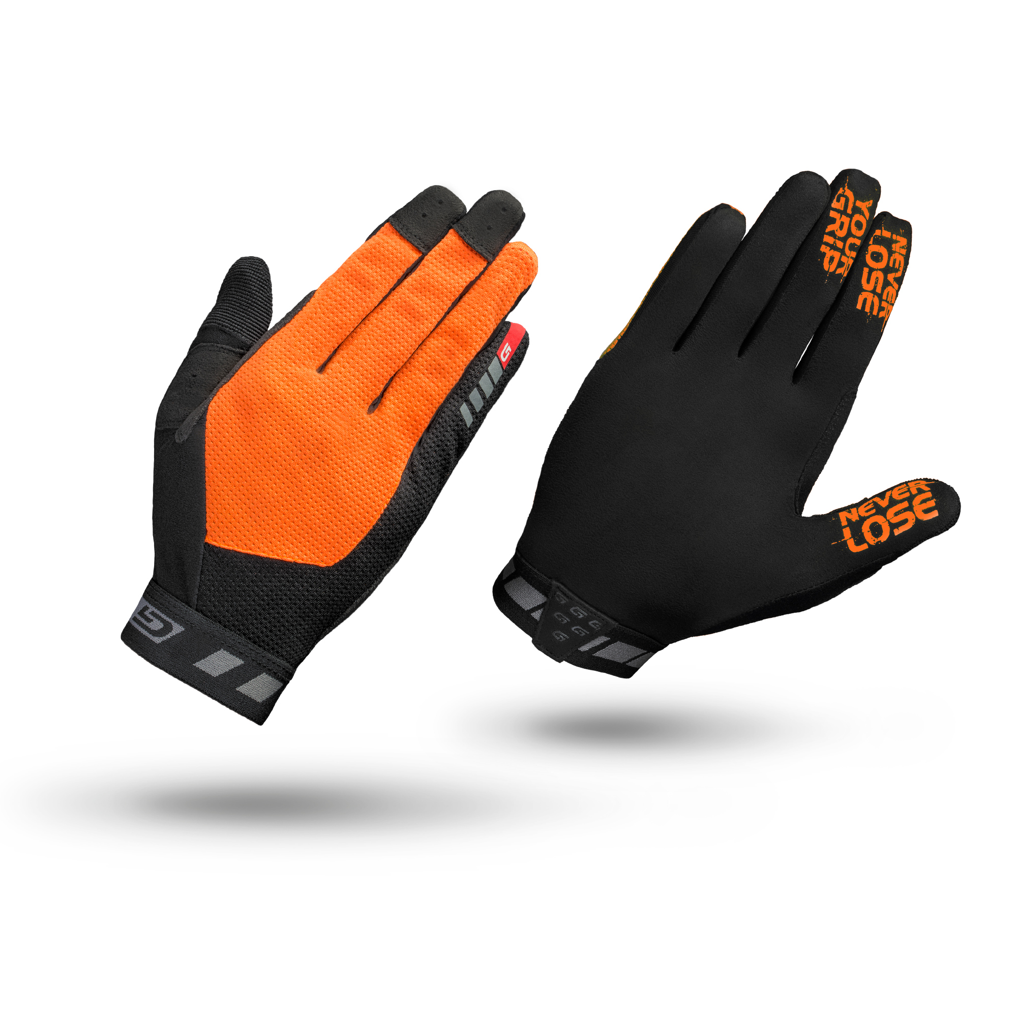 GripGrab 1064 Vertical - Cykelhandsker til MTB - Lang - Orange/Sort | Gloves