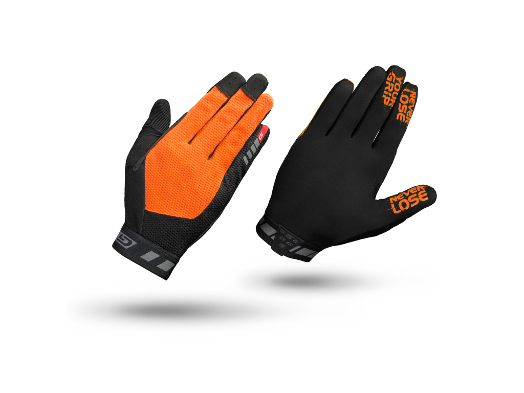 GripGrab 1064 Vertical - Cykelhandsker til MTB - Lang - Orange/Sort - Str. L thumbnail
