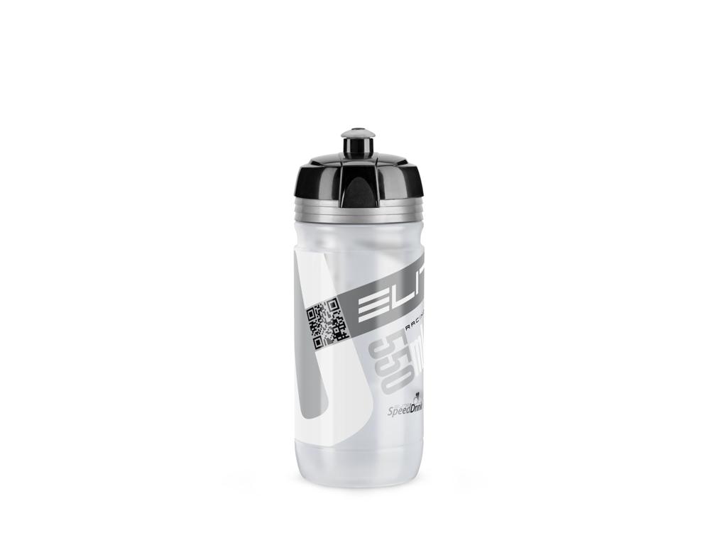 Image of   Elite Corsa - Drikkeflaske 550ml - 100% Biologisk nedbrydelig - Klar/Sølv