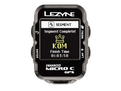 Lezyne Micro Color GPS HRSC Loaded - Cykelcomputer - Bundle med pulsbælte og sensorer