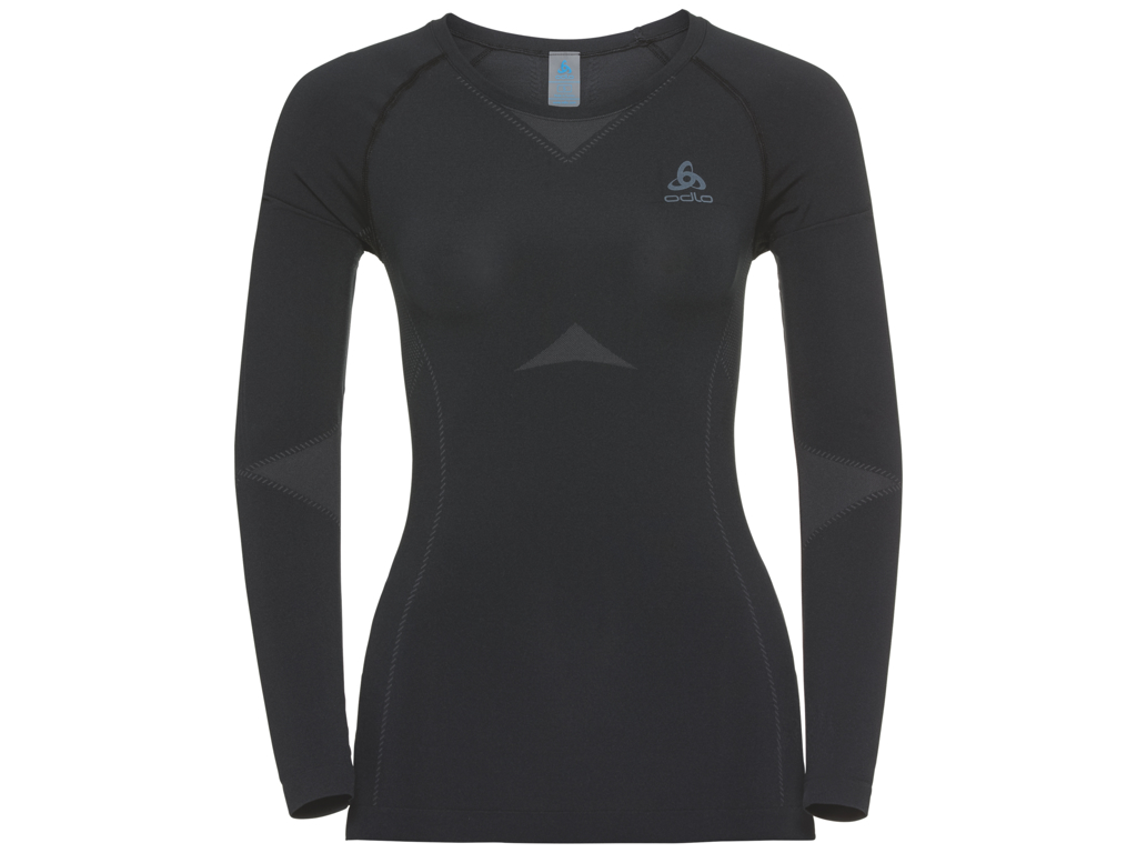 Image of   Odlo - Performance light Suw Top l/s - Svedbluse - Dame - Sort/grå