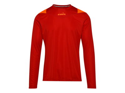 Diadora X-Run LS T-Shirt - Lange Ærmer Herre - Rød