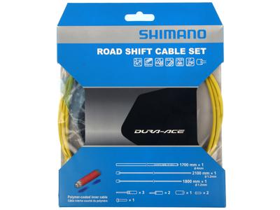 Shimano Dura Ace gearkabelsæt - Road Polymer - For-og bagskifter kabel komplet - Gul