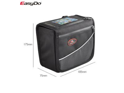 Easydo - ED-2812 -Taske til styr - Med Velco - 2,4 Liter - Sort