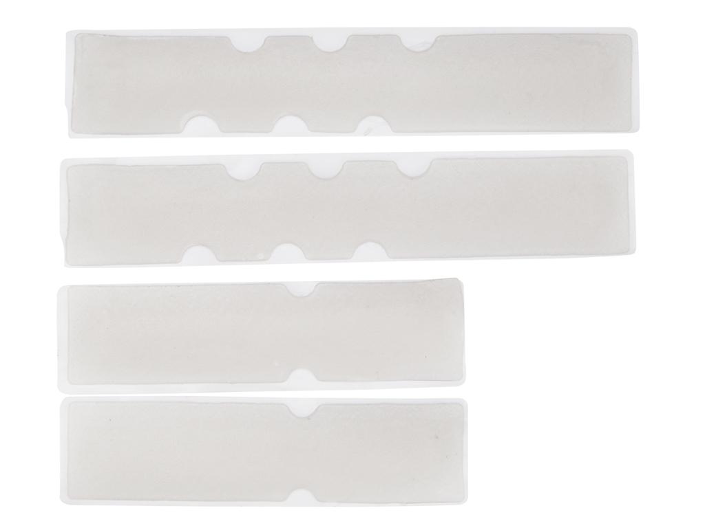 Image of   Atredo - Gel indlæg til styrbånd - Sæt med 4 pads - Transparent