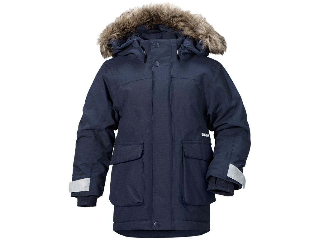 Image of   Didriksons Kure Kids Parka - Vandtæt børnejakke m. for - Navy - Str. 100