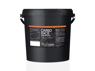 PurePower - Carbo Race Elektrolyt - Energidryck - Apelsin - 5 kg