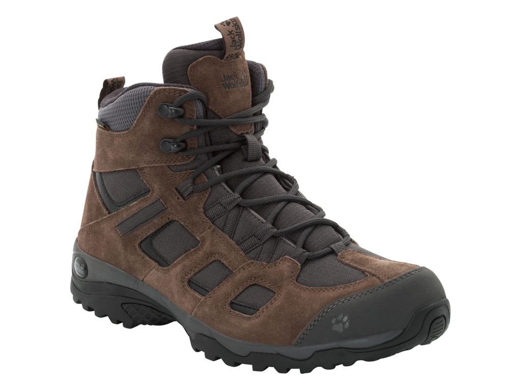 Image of   Jack Wolfskin Vojo Hike 2 Texapore Mid M - Vandrestøvle - Hr. Str. 44,5 - Dark wood