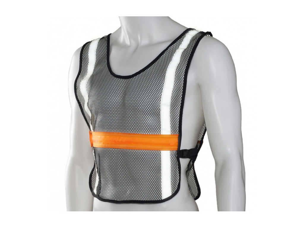 Ultimate Performance - High Visibility LED Vest - Løbe/cykelvest - Onesize - Sort/orange thumbnail