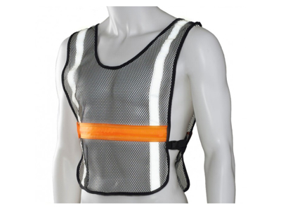 Ultimate Performance - High Visibility LED Vest - Løbe/cykelvest - Onesize - Sort/orange