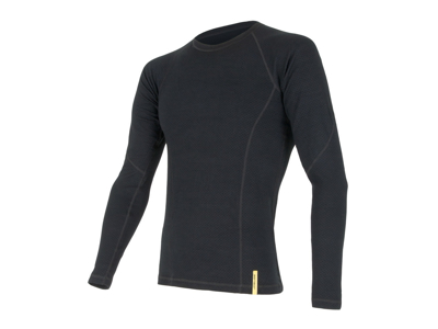 Sensor Merino DF Tee LS - Uld T-shirt med lange ærmer - Herre - Sort