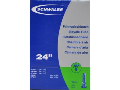 Schwalbe slange 24 x 1. 3/8 med Auto ventil AV9