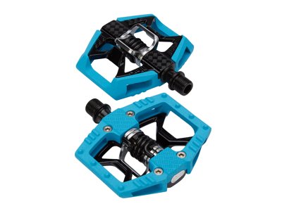Crankbrothers Double Shot Limited Edition - MTB kombipedal - Blå/svart/silver