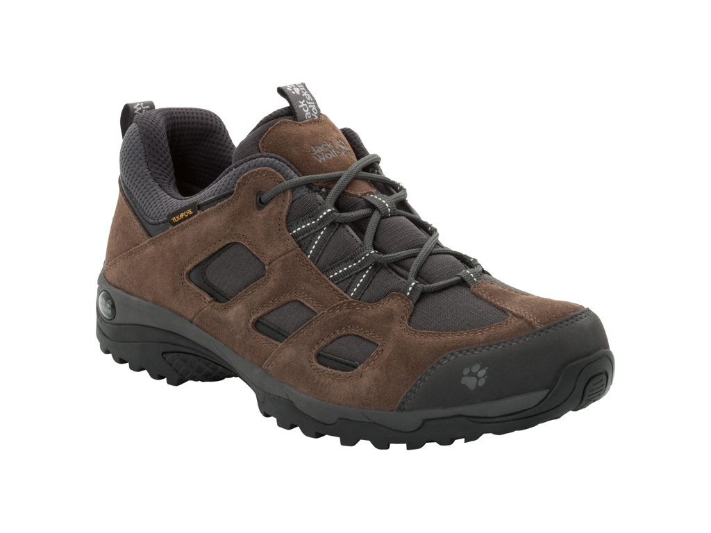 Image of   Jack Wolfskin Vojo Hike 2 Texapore Low M - Vandrestøvle - Hr. Str. 42,5 - Dark wood