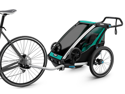 Thule Chariot Lite 1 - Multisportstrailer til 1 barn - Sort/Grøn