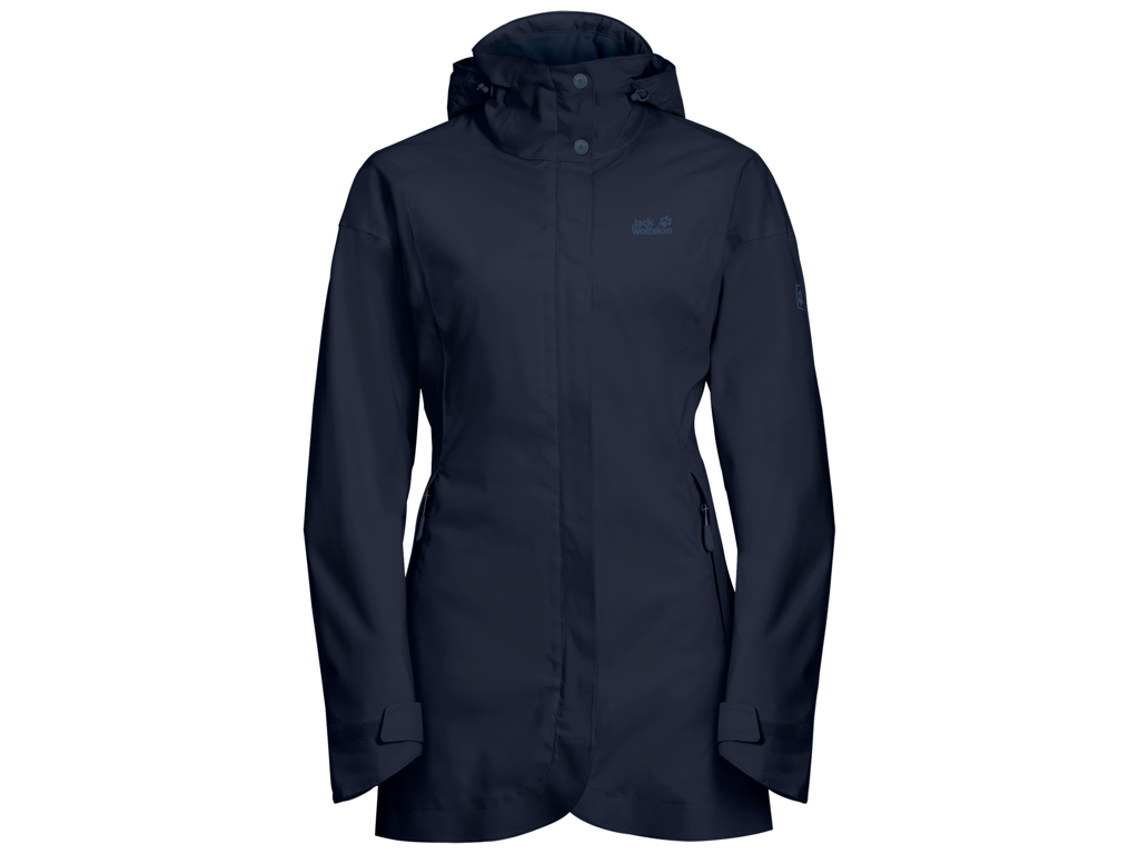 Image of   Jack Wolfskin Ruunaa Skaljakke - Dame Str. XL - Midnight blue