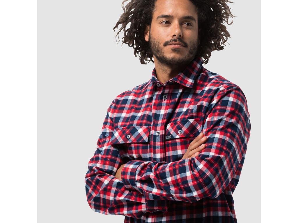 Jack Wolfskin Bow Valley skjorte Skjorte for menn rutete