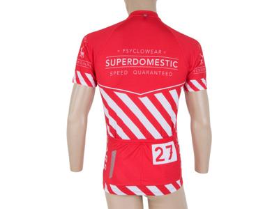Sensor Cyklo Superdomestic - Cykeltrøje med korte ærmer - Rød/hvid