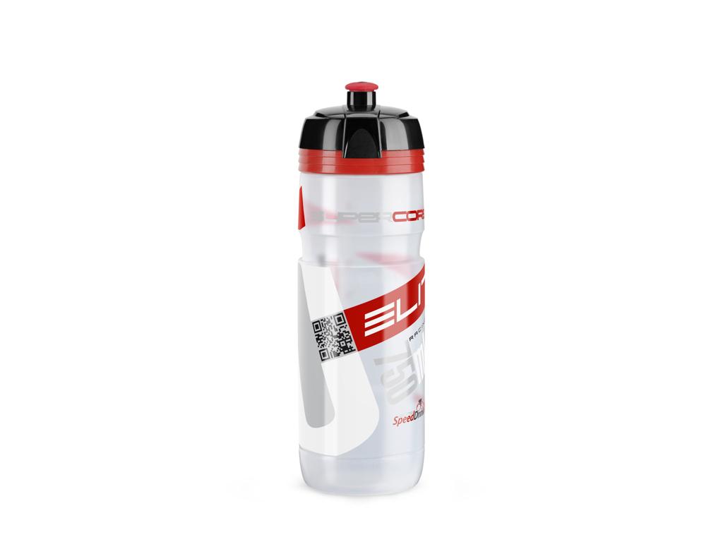 Image of   Elite Corsa - Drikkeflaske 750ml - 100% Biologisk nedbrydelig - Klar/Rød