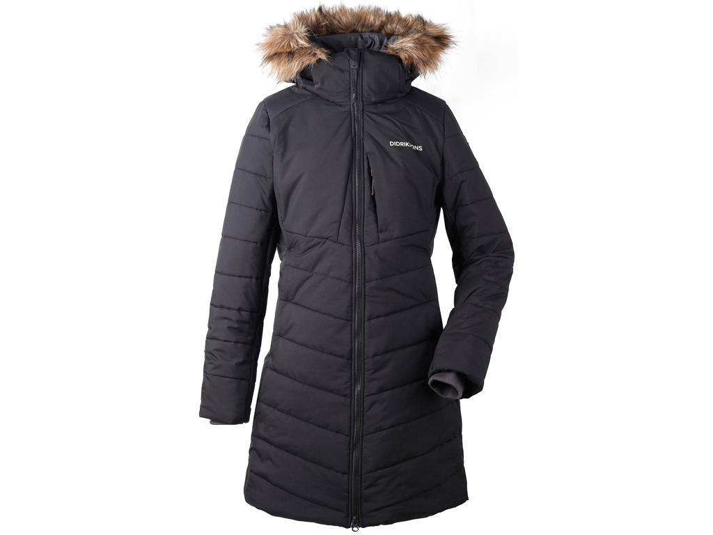 Image of   Didriksons Natasha Padded Womens Parka - Damejakke m. For - Sort - Str. 44