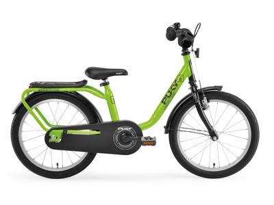 """Puky Z 8 - Børnecykel 18"""" i stål - Grøn/sort"""