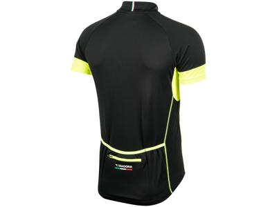Diadora - Cykeltröja med korta ärmar - Svart/gul