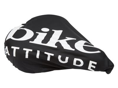 Bike Attitude sadelovertræk - Vandtæt regnovertræk - Sort/Hvid