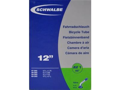 Schwalbe slange 12 1/2 x 2.1/4 med 45 graders bøjning Auto ventil AV1