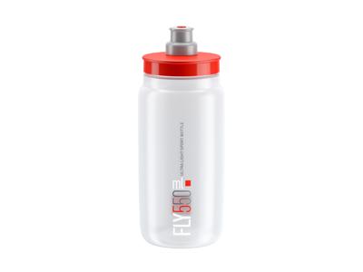 Elite Fly - Vattenflaska 550ml - 100% Biologiskt nedbrytbar - Transparent med röd logga