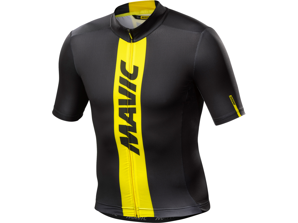 Image of   Mavic Cosmic Jersey - Cykeltrøje - Sort/gul - Str. L