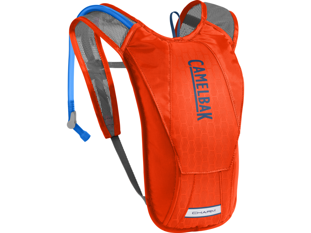 Image of   Camelbak Charm Woman - Rygsæk 1,5L med 1,5 L vandreservior - Cherry Tomato/Pitch Blue