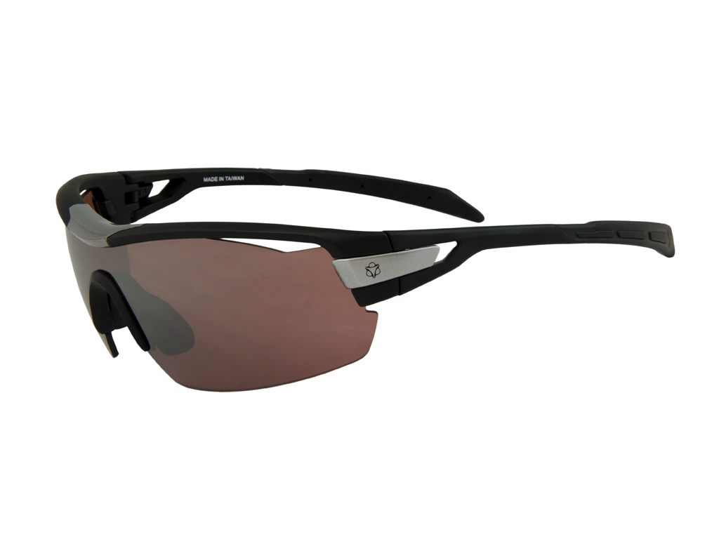 Image of   AGU Foss Shield HD - Sports- og cykelbrille med 3 sæt linser - Sort