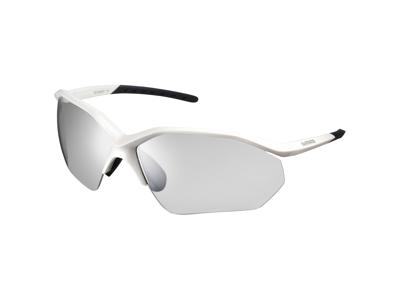 Shimano Cykelglasögon - EQNX3 - Fotokromatiska mörkgrå linser - Metallic Vit