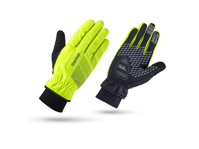 GripGrab Ride Windproof Hi-Vis Winter 1068 - Cykelhandske - Neon Gul - Str. XS